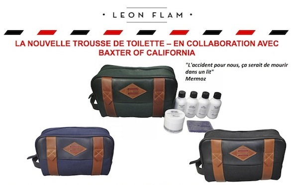 trousse de toilette Leon Flam x Baxter of California
