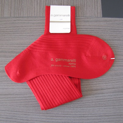 chaussettes rouges gammarelli