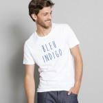 tshirt bleu indigo jules