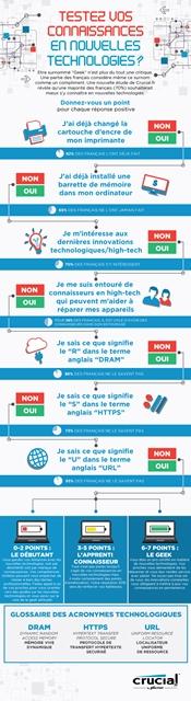 Infographie Crucial.fr - Etre geek, un atout