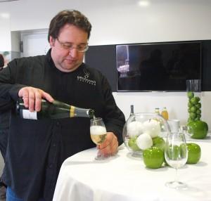 Fabrice Brossard en plein service