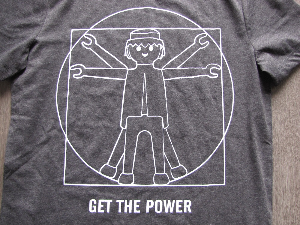 t shirt get the power playmobil by jules