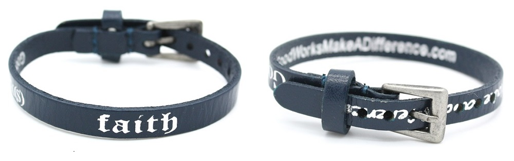 bracelet Good Works single bugle Faith Navy