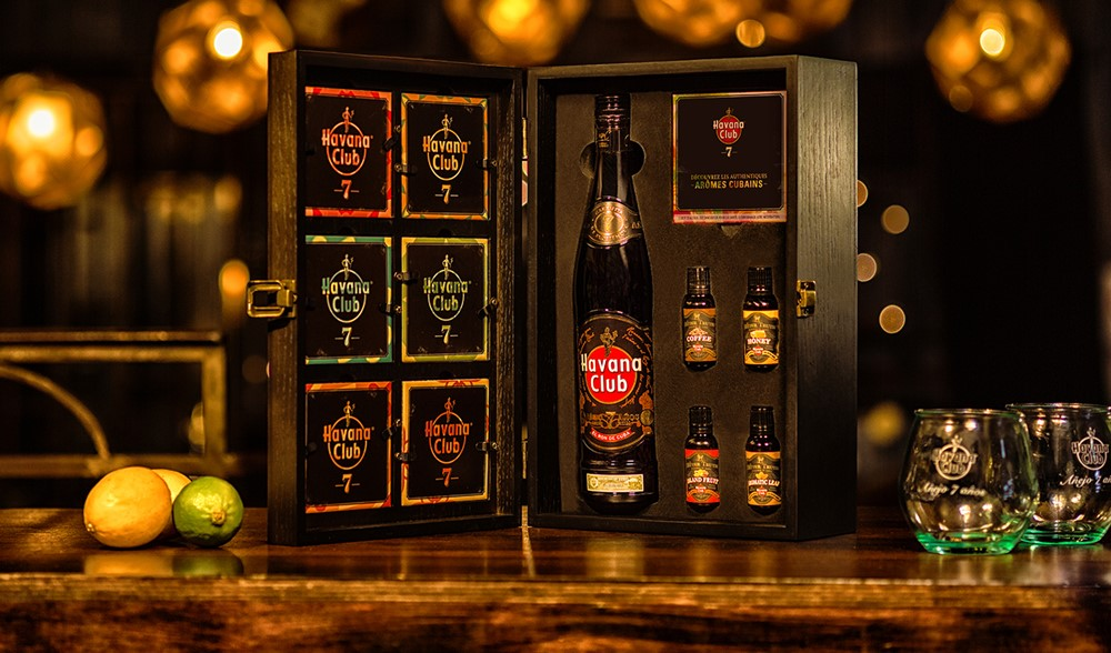 coffret ron old fashioned havana club