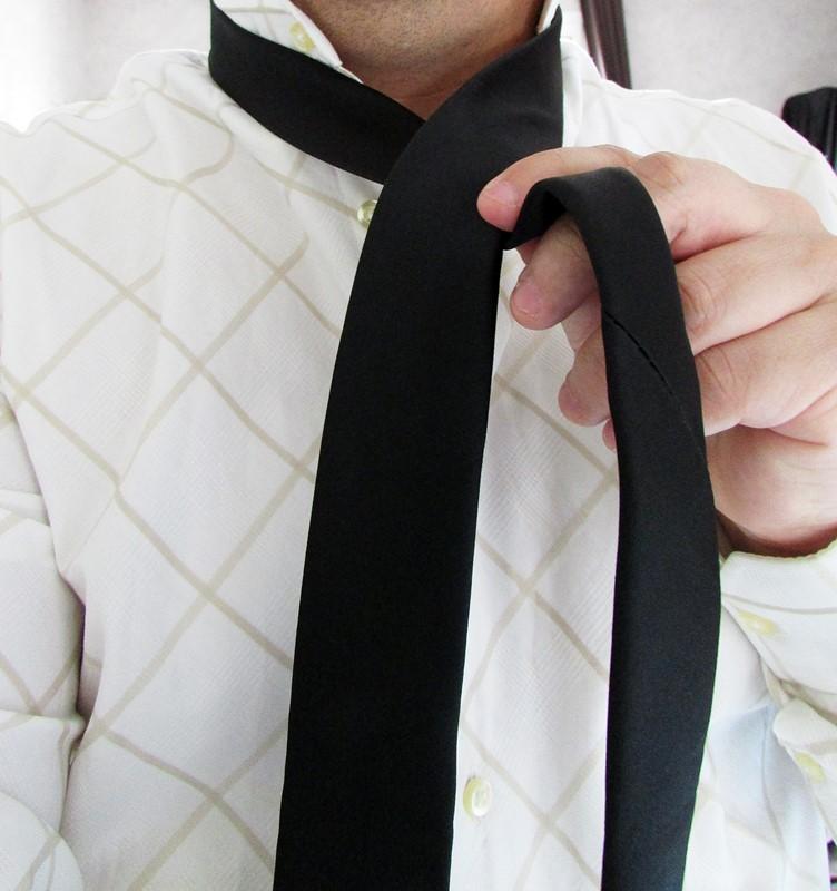 bandit box - cravate noire slim