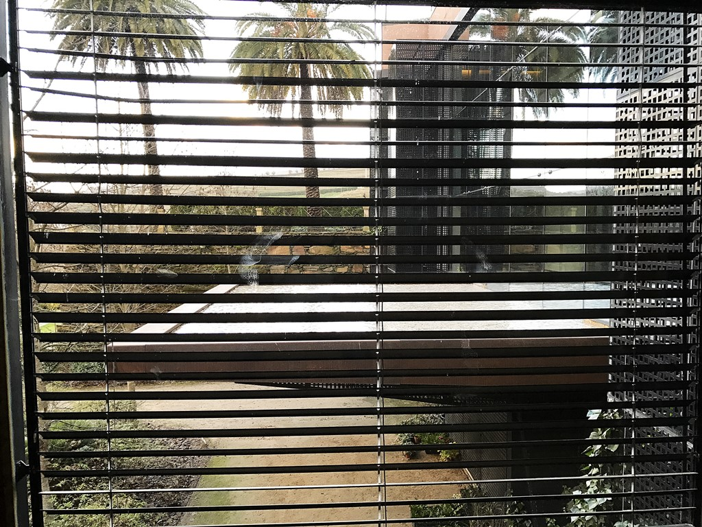 vue sur la piscine debordement depuis le sauna