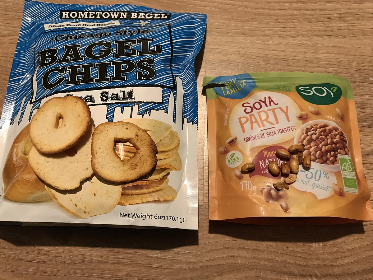 degustabox gros plan bagel chips soya party