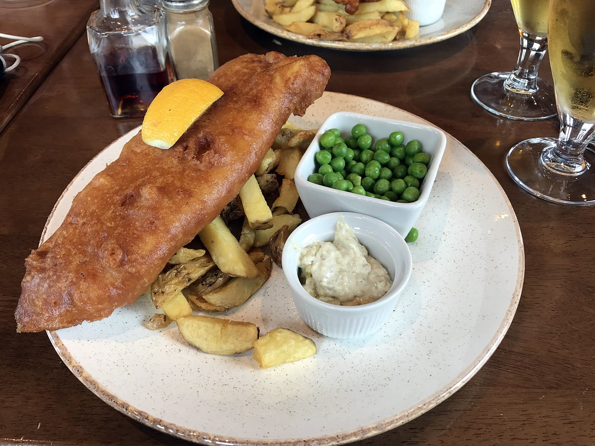 fish and chips - jura pub